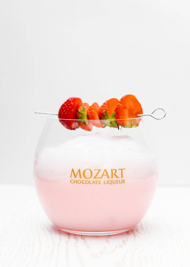 Mozart Strawberry Chocolate Gin Fizz