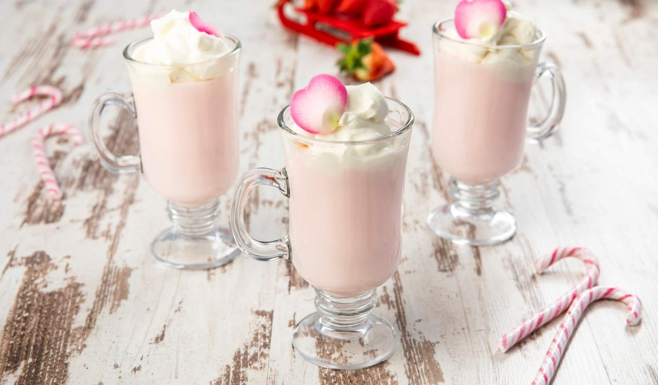 Mozart Strawberry Rose Hot Chocolate